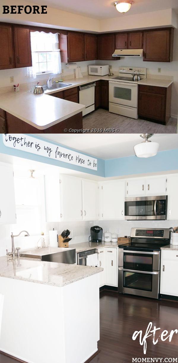 Image of: Modern Farmhouse Kitchen Remodel Reveal 80 S Kitchen Renovation