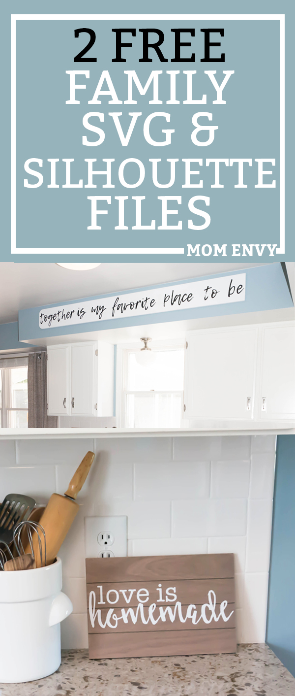 Free Family SVG files for wooden signs, vinyl decals, and more. Silhouette files and SVG files are included for free. Make these signs today. #freesilhouettefile #freesvg #DIY
