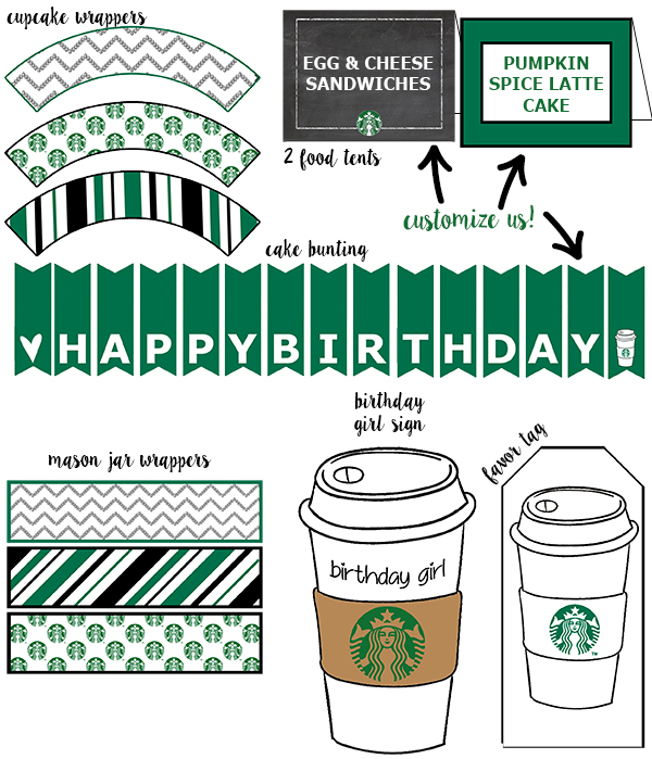 graphic regarding Starbucks Printable Application known as Absolutely free Starbucks Birthday Printable Social gathering Pack - Mother Envy
