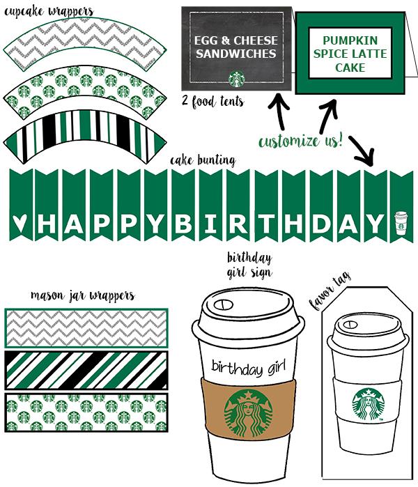 photograph regarding Starbucks Printable Application named Absolutely free Starbucks Birthday Printable Occasion Pack - Mother Envy