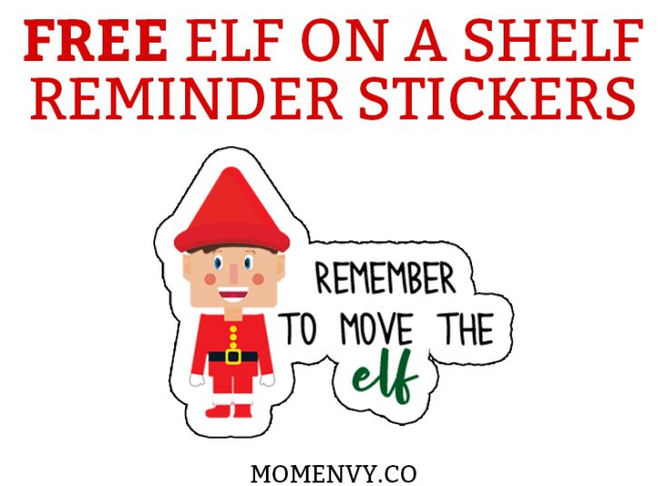 Elf on a Shelf Reminder Stickers - Perfect for Planners