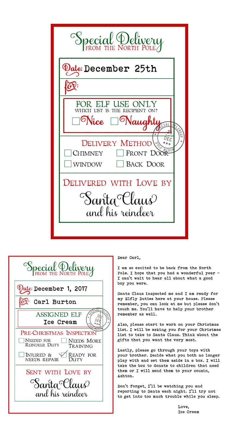 examples of labels free custom santa gift tags and elf on a shelf arrival letter free printable christmas