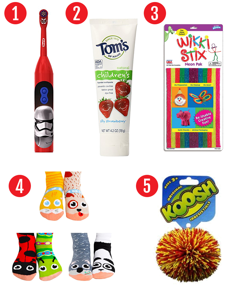 Stocking stuffers for preschoolers. Find 75 stocking stuffer ideas for kids. Perfect stocking stuffers for babies, toddlers. and preschoolers. #christmas #stockings #stockingstuffers