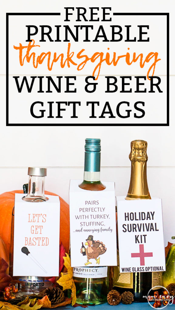 photo regarding Printable Wine Glass Tags identified as Cost-free Thanksgiving Wine Reward Tags Beer Reward Tags - 3