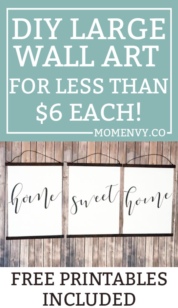 DIY inexpensive wall art, Large inexpensive wall art DIY. Free printable wall art is included. Free home sweet home prints. DIY Engineering print wall art. #DIY #freeprintables #engineringprints #wallart