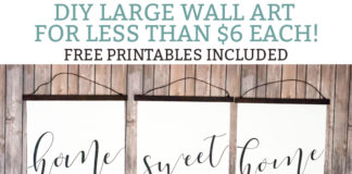 DIY inexpensive wall art, Large inexpensive wall art DIY. Free printable wall art is included. Free home sweet home prints. DIY Engineering print wall art. #DIY #freeprintables #engineringprints #wallart