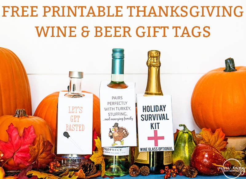 photo about Printable Wine Glass Tags titled No cost Thanksgiving Wine Present Tags Beer Reward Tags - 3
