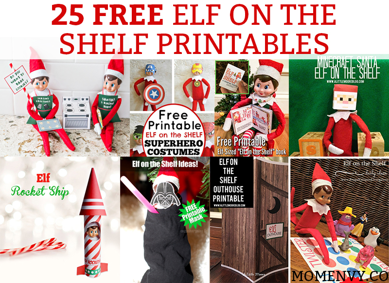 graphic regarding Elf on the Shelf Printable named 25 No cost Elf upon the Shelf Printables - Uncomplicated Elf upon the Shelf