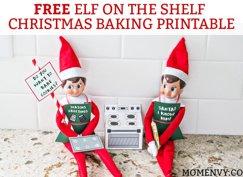 photo regarding Elf on the Shelf Printable titled Totally free Elf upon the Shelf Xmas Baking Printable Fastened