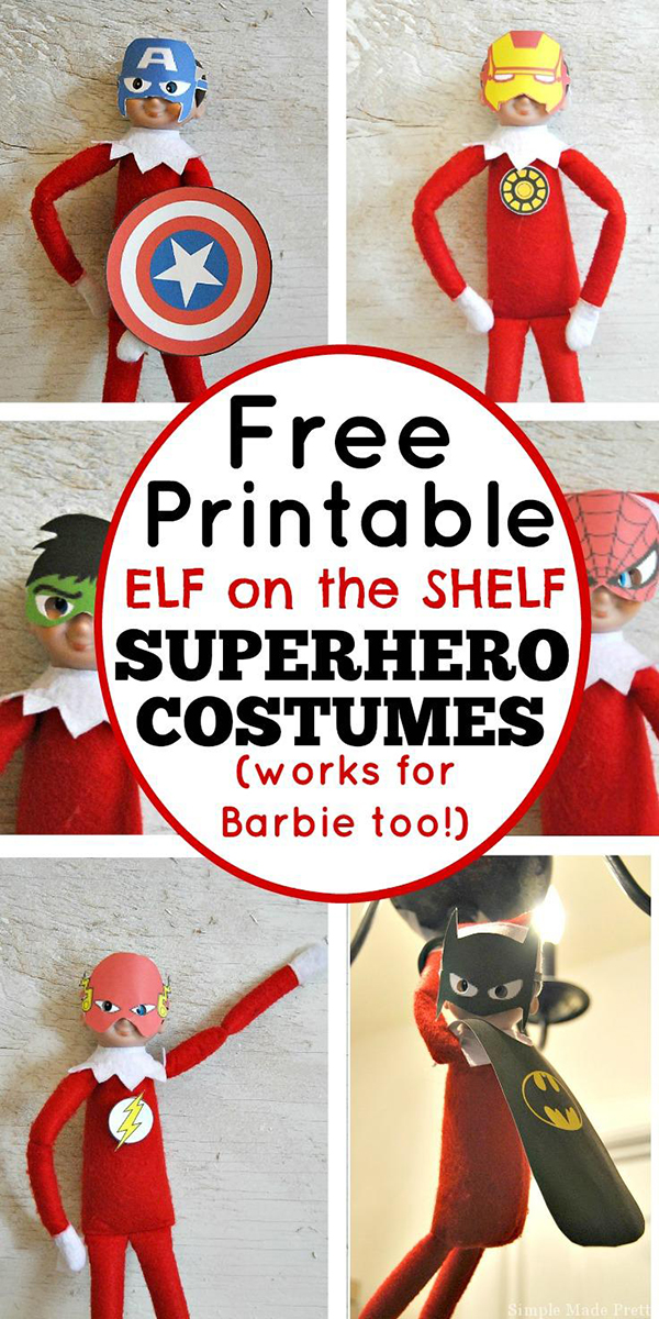 photograph relating to Free Elf Printable identified as No cost-Printable-Elf-upon-the-Shelf-Tremendous-Hero-Costumes - Mother Envy