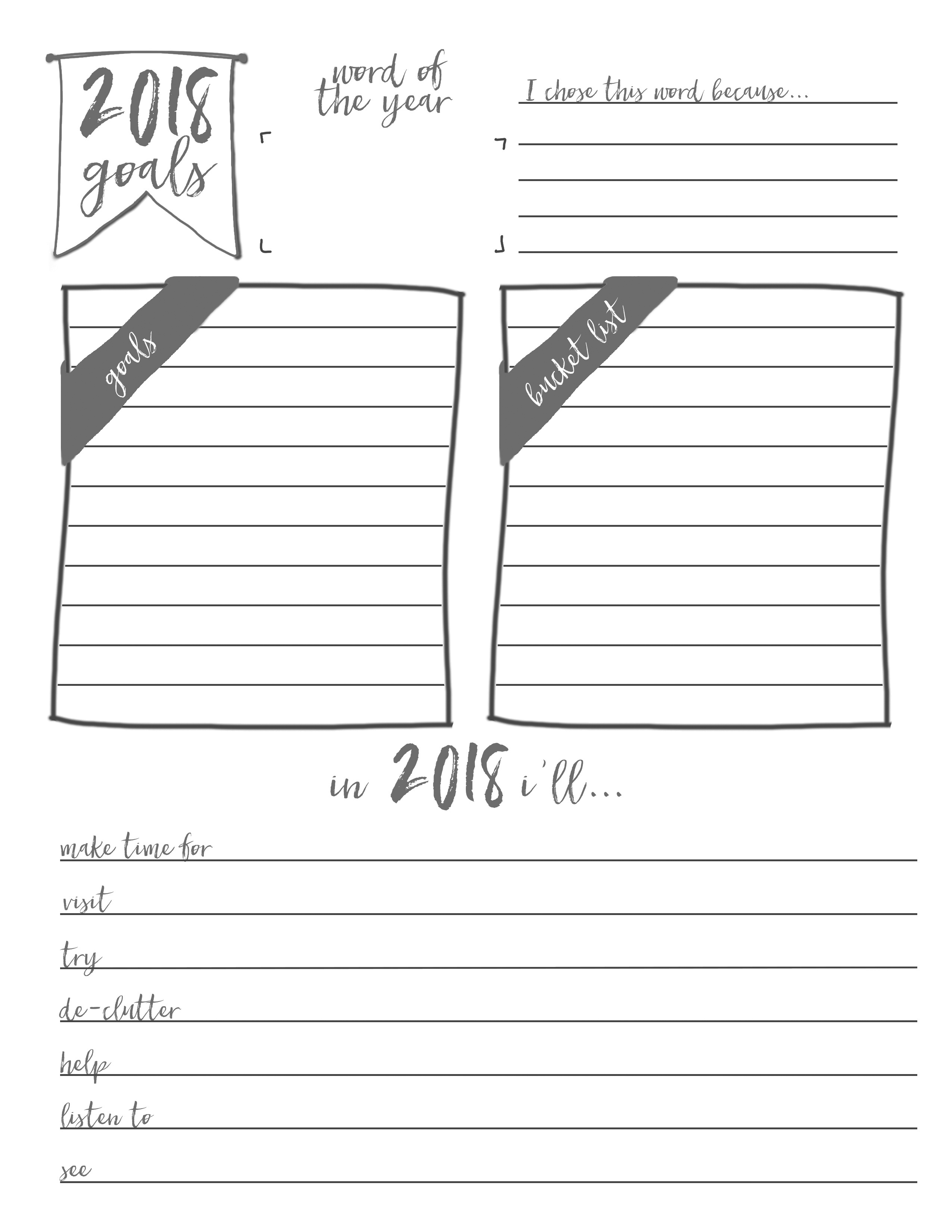Free End of Year Planner Printables & New Year Goals Planner Printable. Free Yearly Review Printables for The Happy Planner, Erin Condren, Recollections, Filofax, and more. #freeplannerprintables #plannerprintables #happyplanner #erincondren #freeprintables