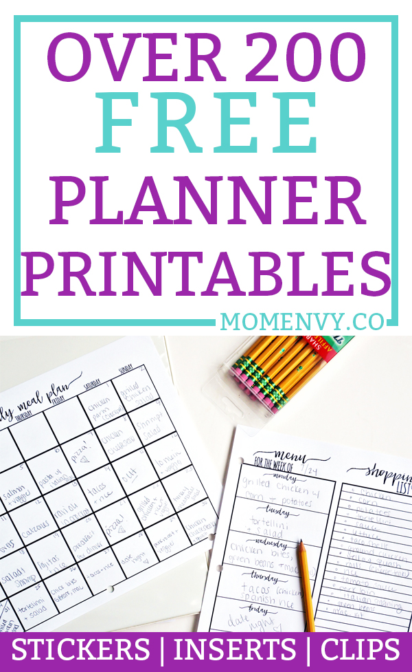 image regarding Free Planner Sticker Printables identify No cost Planner Printables - Above 200 free of charge Printables (Stickers