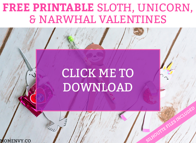 image regarding Free Printable Unicorn Valentines named No cost Animal Valentines - Unicorn, Sloth, and Narwhal Valentines