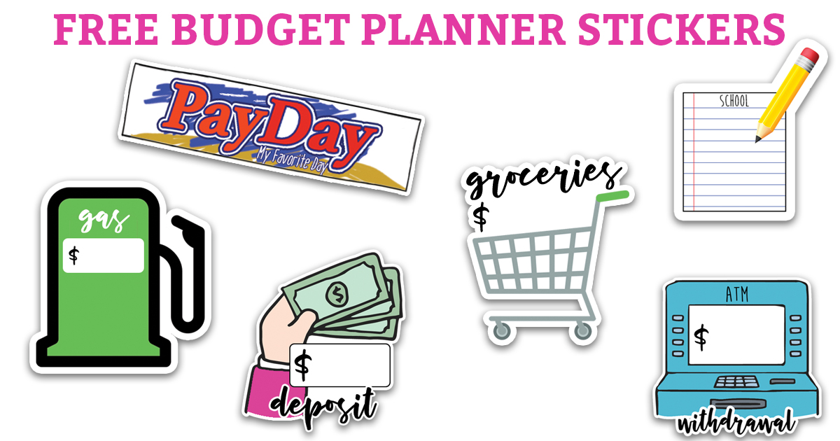 Free Budget Planner Stickers. 11 different sheets with multiple FREE designs. Silhouette, JPEG, PDF, and PNG files are included. These budgeting stickers work with The Happy Planner, Erin Condren, Recollections, A5's, and most other planners. #freeprintables #planneraddict #happyplanner #plannerstickers