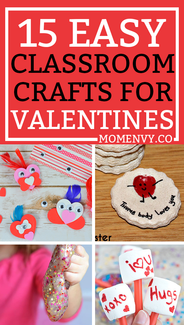 Valentines Day Crafts For Classroom Pinterest Mom Envy