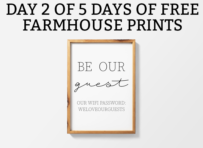 photo about Wifi Password Printable Free named Farmhouse Printables Be Our Visitor - 2 Substitute Products