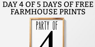 Farmhouse printables Party of 4 or more prints. Download free farmhouse wall art. Party of Four-Nine available. Free JPEG, SVG, and Silhouette files included. #freeprints #printables #fixerupper #silhouettefiles