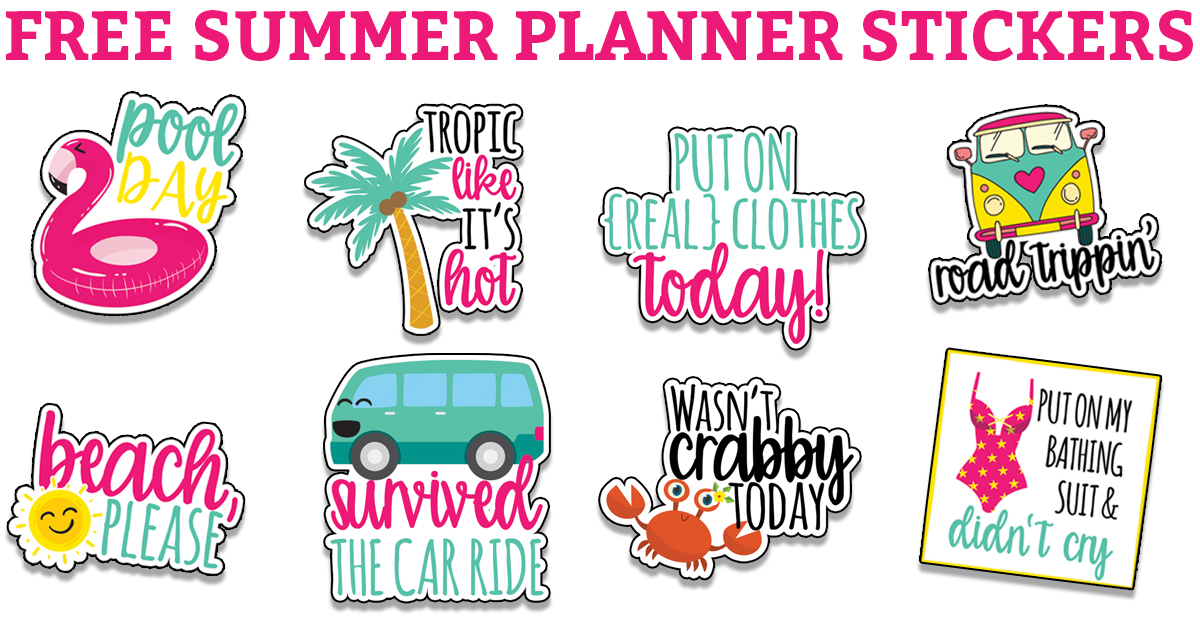 photo regarding Free Printable Stickers referred to as Free of charge Planner Printables - Above 200 free of charge Printables (Stickers