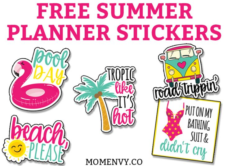 Free Summer Planner Stickers