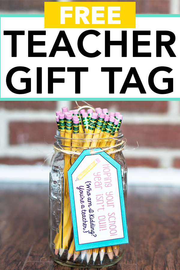 Welcome Back Gift for Teachers - Free Printable gift tag to go with pencils or a pencil sharpener. Get your free printable tags for teachers for Back to School! #backtoschool #teachergifts #freebies #freeprintables