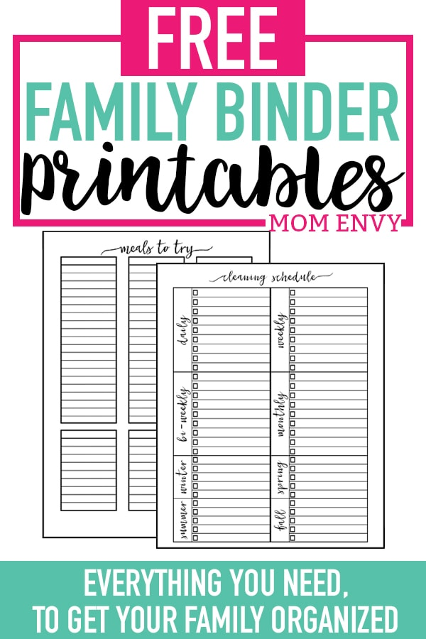 Home Organization Printables - download over 50 free printable home organization worksheets to get your family organized. #plannerprintables #planneraddict #organization