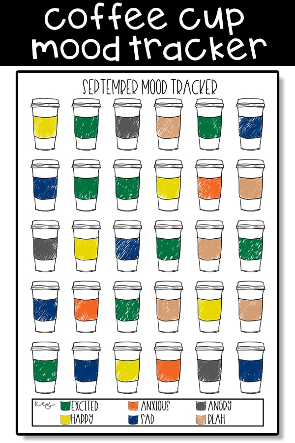 Coffee Mood Tracker - Free coffee bullet journal printables. Download these free fall planner printables. Are you coffee obsessed? Grab these free coffee planner inserts today. #coffeeaddict #Plannerlover #bujo
