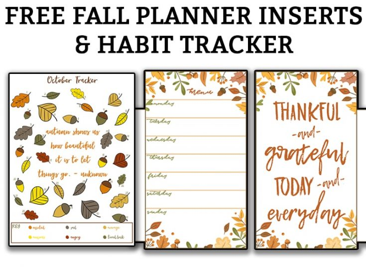 Free Fall Planner Inserts & Fall Habit Tracker