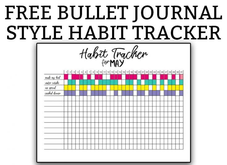Free Habit Tracker Bullet Journal Printables