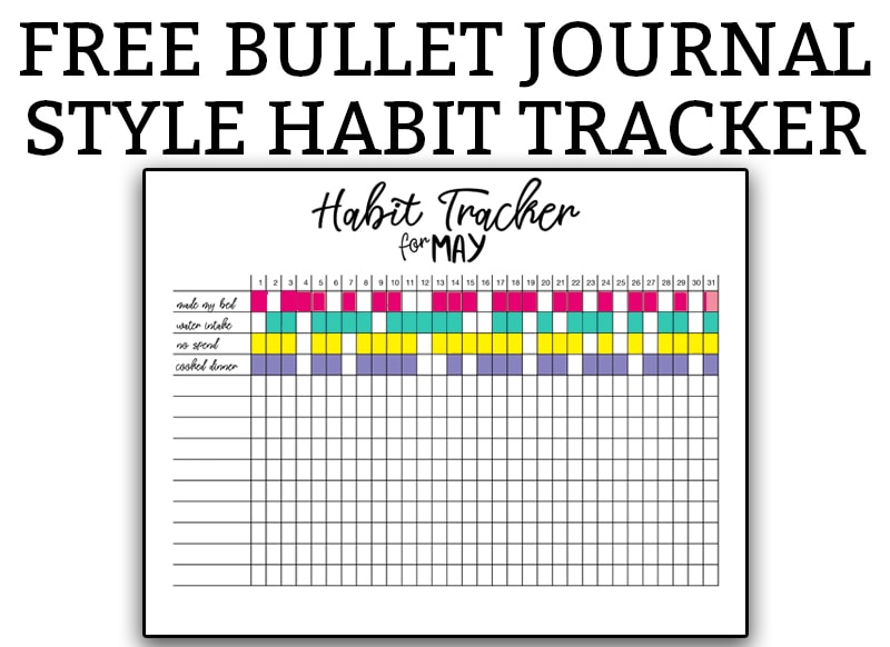 graphic about Bullet Journal Habit Tracker Printable called Behavior Tracker Bullet Magazine - No cost Printable Bullet Magazine