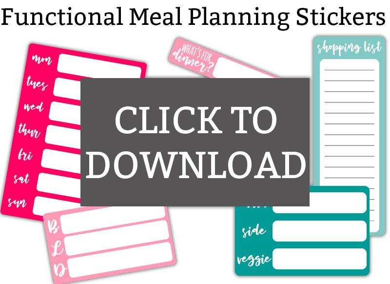picture regarding Free Printable Functional Planner Stickers referred to as Dinner Building Stickers - Cost-free Simple Evening meal Planner Stickers