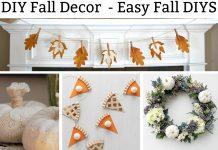 DIY Fall Decor. Check out these adorable 15+ easy fall crafts. #fall #falldecor #fallcrafts