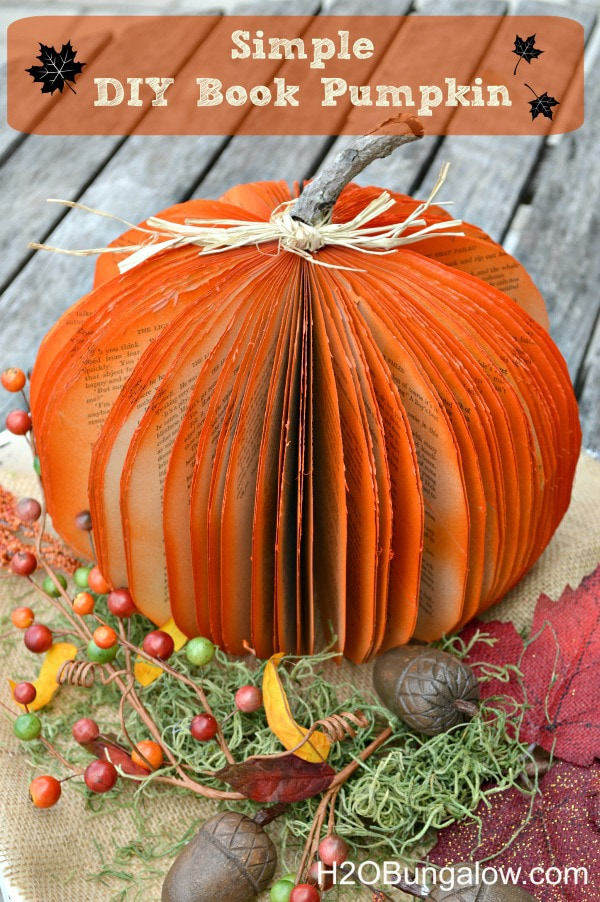 DIY Fall Decor. Check out these adorable 15+ easy fall crafts. #fall #falldecor #fallcrafts