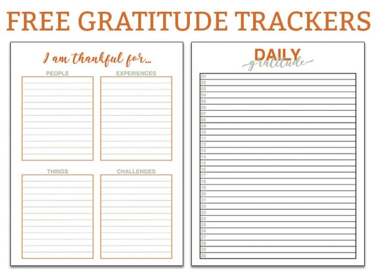 Free Gratitude Trackers - Perfect for Any Size Planner