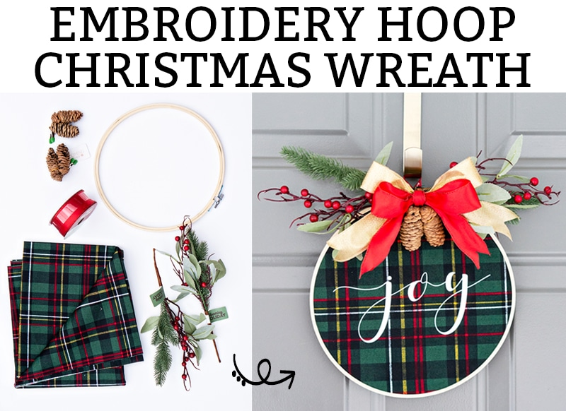 Christmas Embroidery Hoop Wreath.Embroidery Hoop Christmas Wreath Easy Diy Christmas Craft