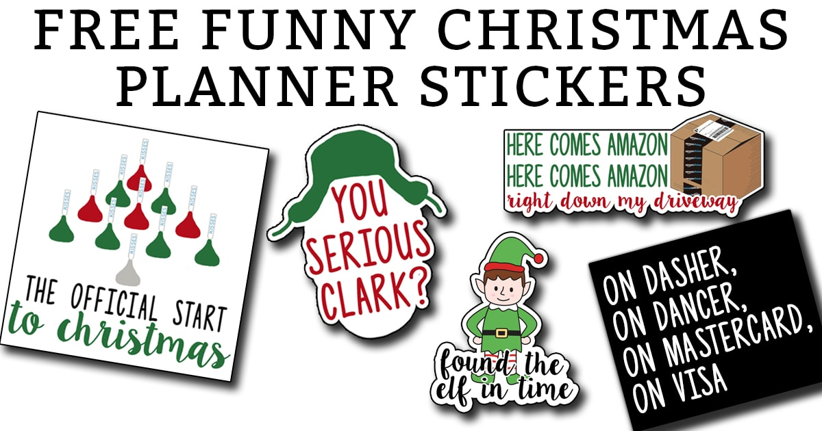 picture relating to Printable Christmas Stickers known as Free of charge Xmas Planner Printables
