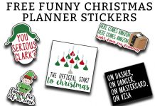 "Christmas Planner Printable - Download this set of funny ""adulting"" planner stickers today! You get an entire letter size sheet of printable Christmas stickers. Perfect for The Happy Planner, Erin Condren, Recollections, and more. #planneraddict #plannerlover #christmasplanner"