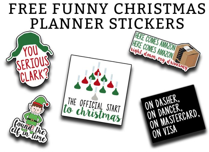 Christmas Planner Printable - Download this set of funny