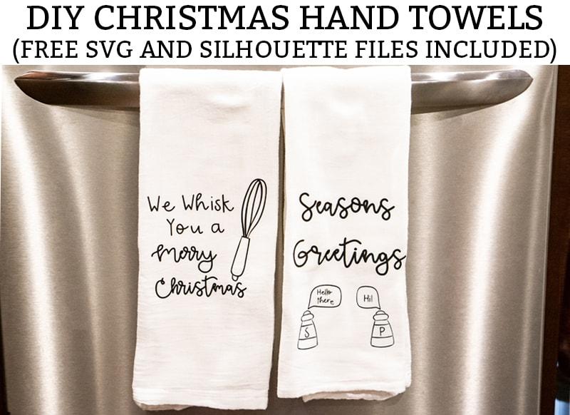 Diy Christmas Hand Towels