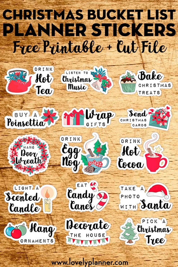 Free Christmas Planner Printables. Check out this list of 30 free planner printables for Christmas. There's a mix of Christmas stickers, Christmas inserts, and more. Perfect for The Happy Planner, Erin Condren, Recollections, and more. #happyplanner #christmasplanner #plannerlover