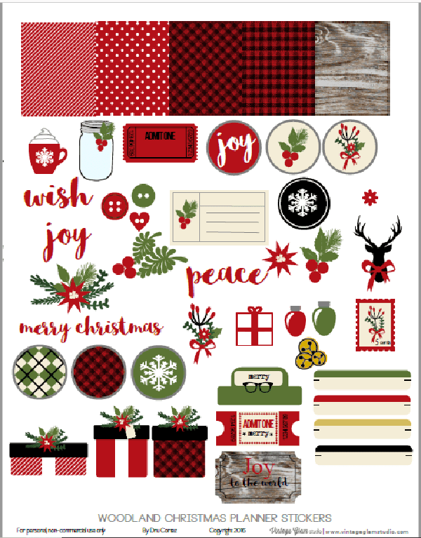 photo regarding Free Printable Christmas Stickers identify Cost-free Xmas Planner Printables