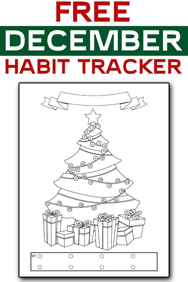 Free December Habit Tracker
