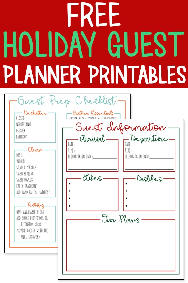 In need of some planner printables to get you organized for your guests? Get some tips for how to be a good host for house guests. I'll show you tips and tricks to make your guests feel at home for the holidays. #ad #holidayentertaining #entertaining #christmas #HomeHolidayBboxx