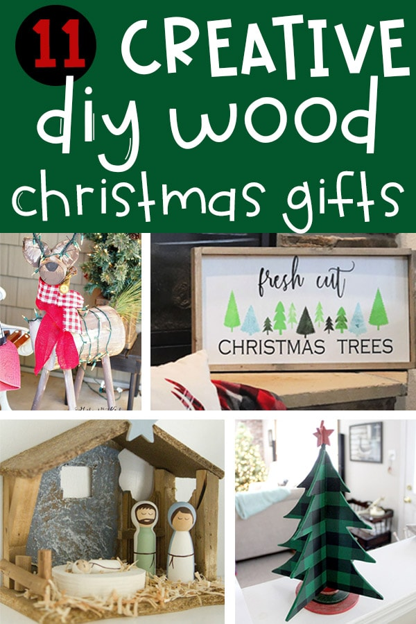 Woodworking Christmas Gifts that will impress your friends and family this year. These 11 creative wood Christmas projects are bound to make your family and friends feel loved. #christmas #christmasgiftideas #christmasdiy