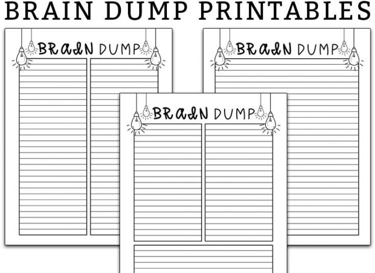 Brain Dump Template - Free Brain Dump Planner Printable