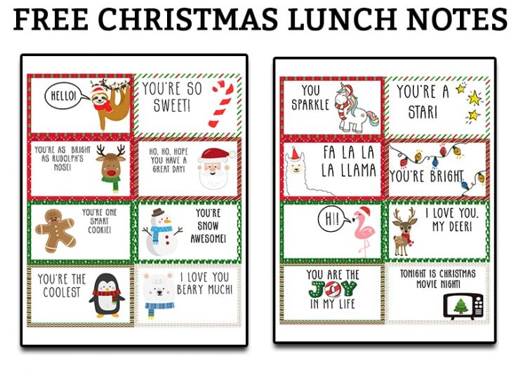 Christmas Lunch Notes
