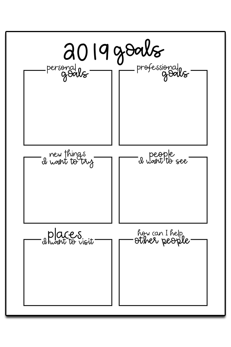 picture regarding Goals Printable called Purpose Atmosphere Worksheets - 3 Absolutely free Reason Planner Printables