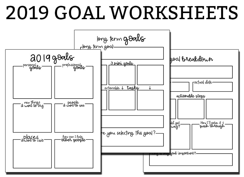 image regarding Printable Goal Sheets known as Purpose Ecosystem Worksheets - 3 No cost Function Planner Printables