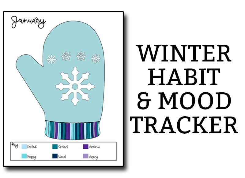 January Habit Tracker. Download this winter themed bullet journal tracker. It makes a great winter mood tracker. Two designs are included. #BUJO #habittracker #planners