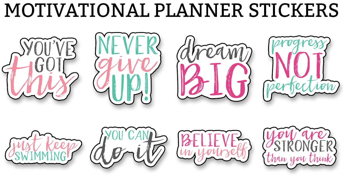 image relating to Free Printable Stickers called Cost-free Planner Printables - Earlier mentioned 200 cost-free Printables (Stickers