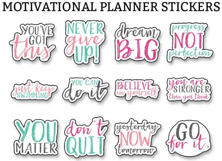 Motivational Stickers - Free Motivational Planner Stickers